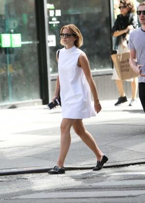 Emma Watson in White Mini Dress -05