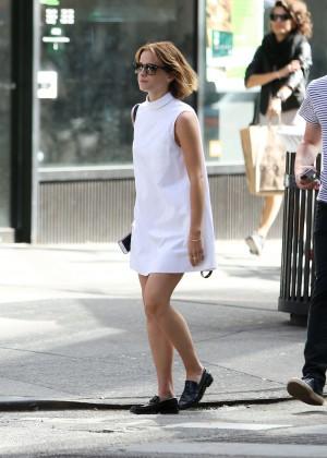 Emma Watson in White Mini Dress -09