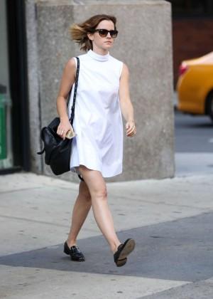 Emma Watson in White Mini Dress -11