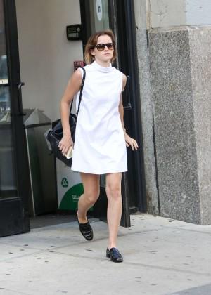 Emma Watson in White Mini Dress -13