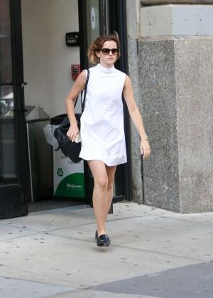 Emma Watson in White Mini Dress -14