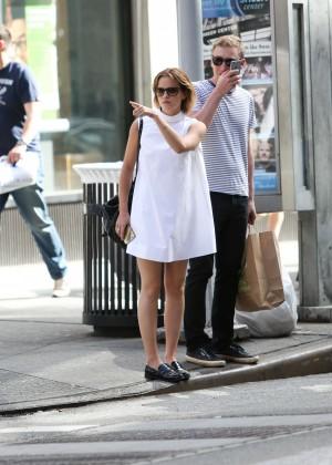 Emma Watson in White Mini Dress -16