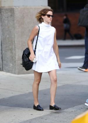 Emma Watson in White Mini Dress -17