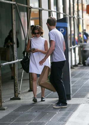 Emma Watson in White Mini Dress -18