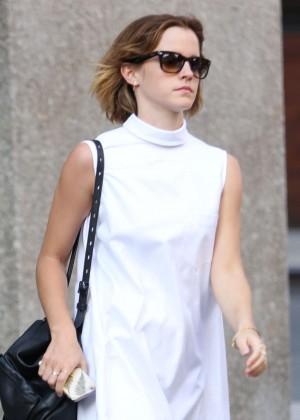 Emma Watson in White Mini Dress -19
