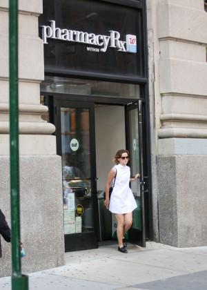 Emma Watson in White Mini Dress -20