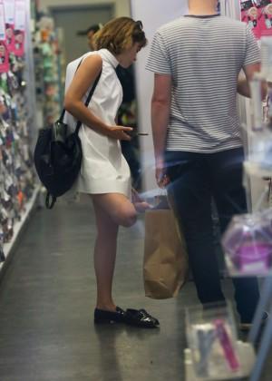 Emma Watson in White Mini Dress -21
