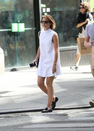 Emma Watson in White Mini Dress -24