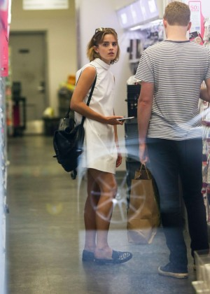 Emma Watson in White Mini Dress -27