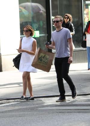 Emma Watson in White Mini Dress -29