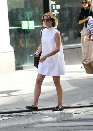Emma Watson in White Mini Dress -30