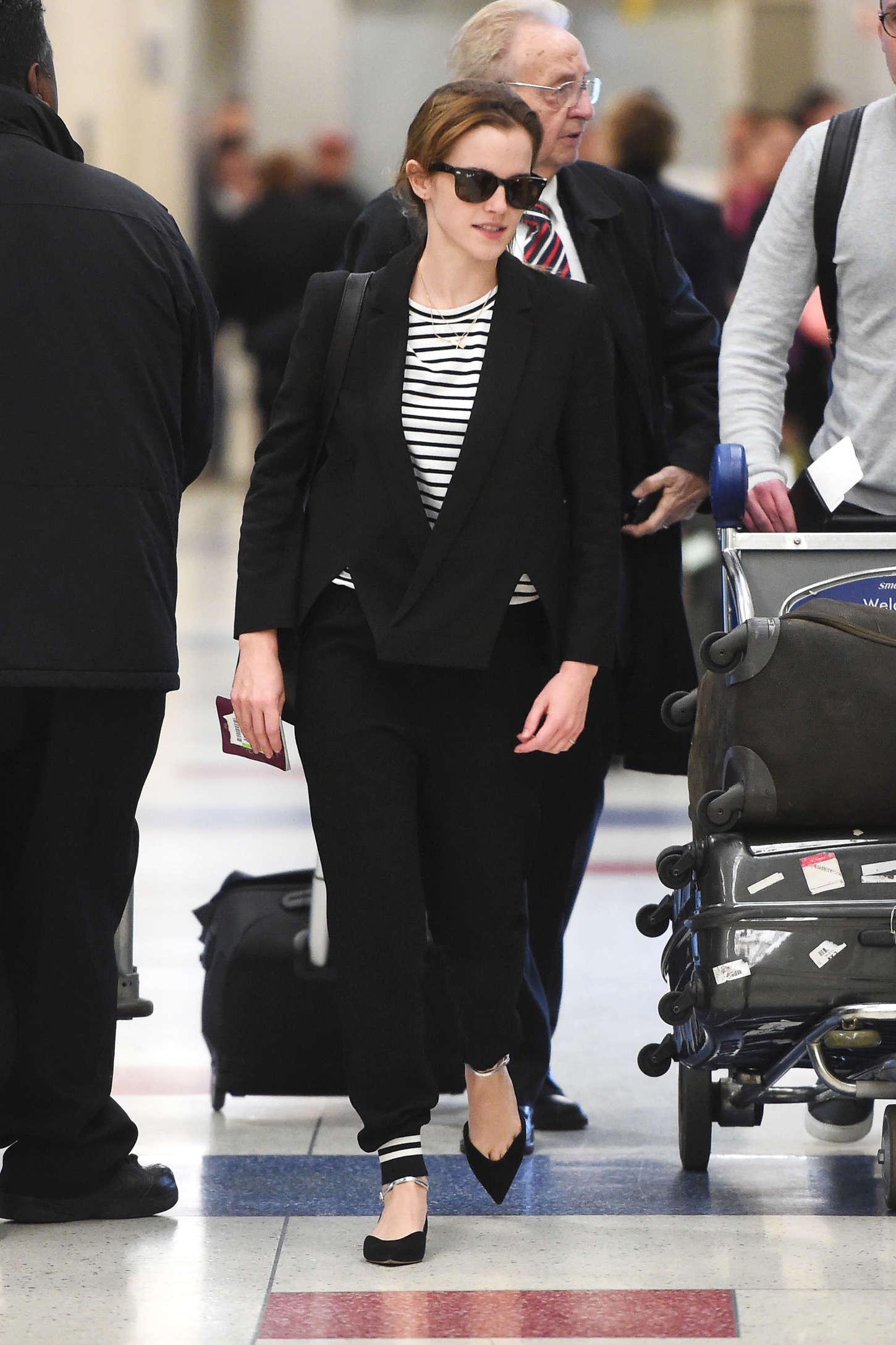 Emma Watson - JFK airport in NYC