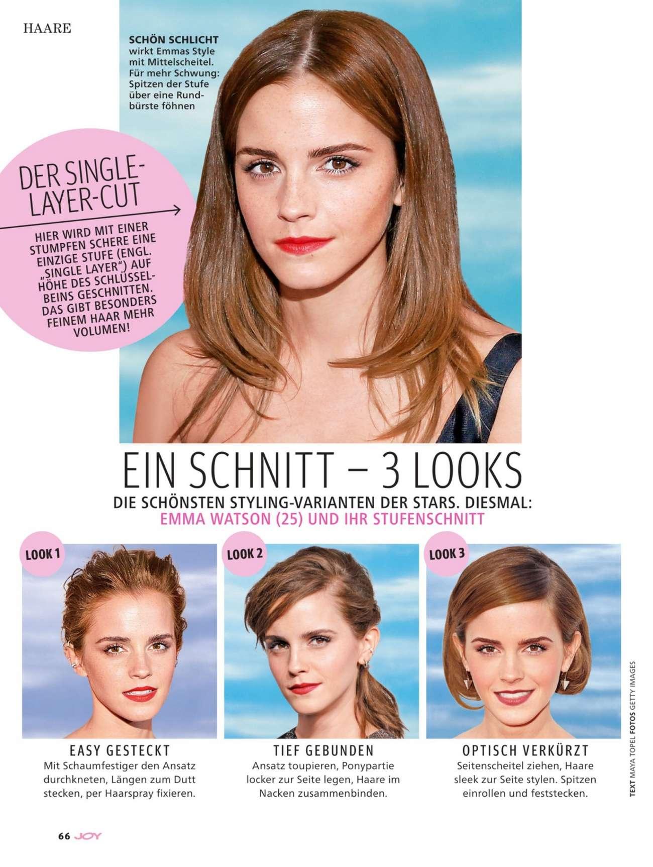 Emma Watson - JOY Germany (February 2016)