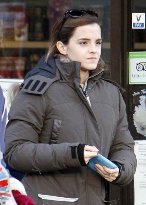 Emma Watson - Leaving a coffee shop in London