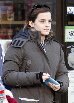 Emma Watson - Leaving a coffee shop in London