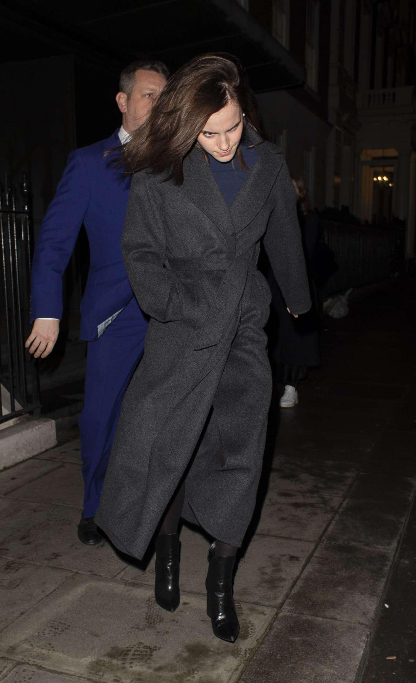 Emma Watson 2020 : Emma Watson – Leaving C restaurant in London-01