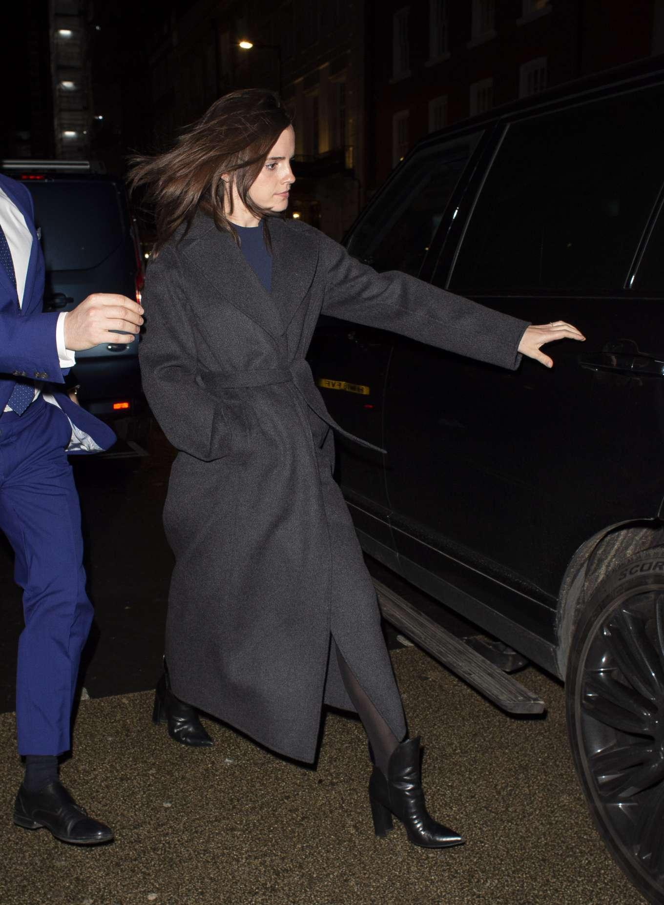 Emma Watson 2020 : Emma Watson – Leaving C restaurant in London-04