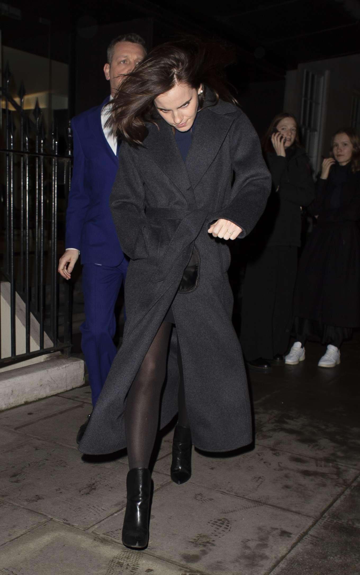 Emma Watson 2020 : Emma Watson – Leaving C restaurant in London-05