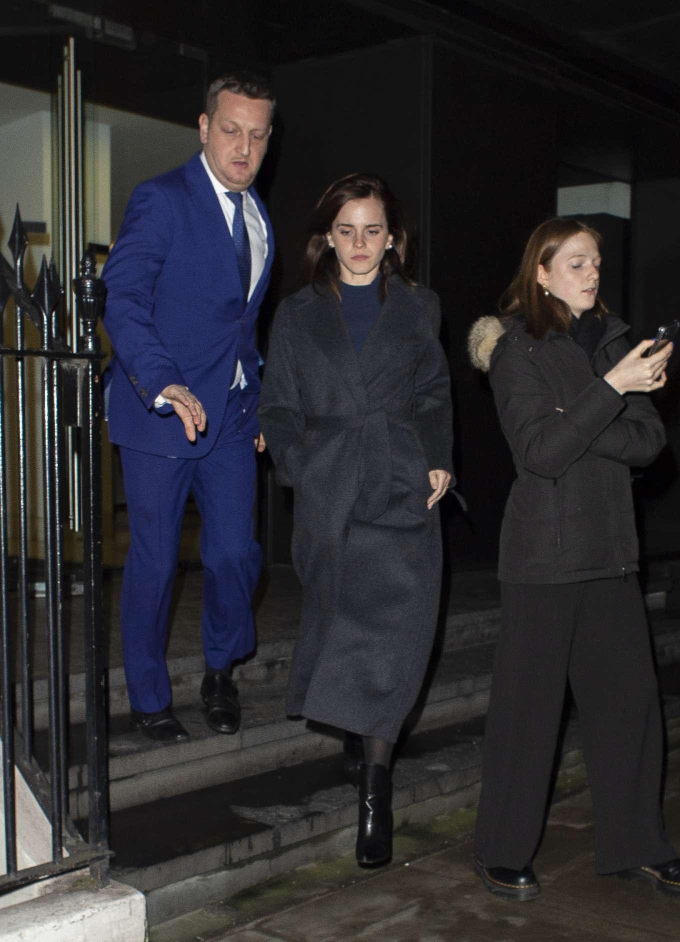 Emma Watson 2020 : Emma Watson – Leaving C restaurant in London-07