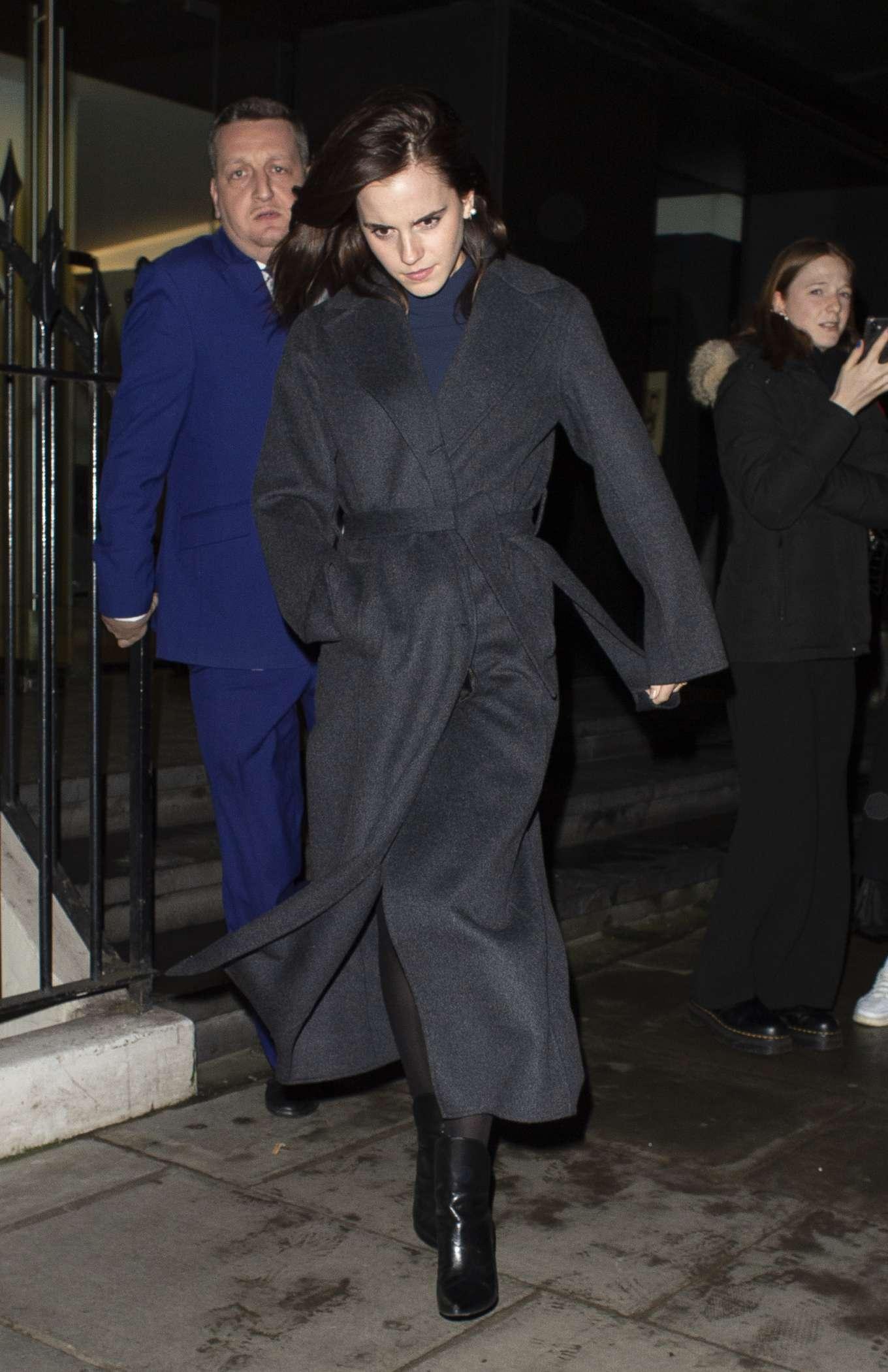 Emma Watson 2020 : Emma Watson – Leaving C restaurant in London-14