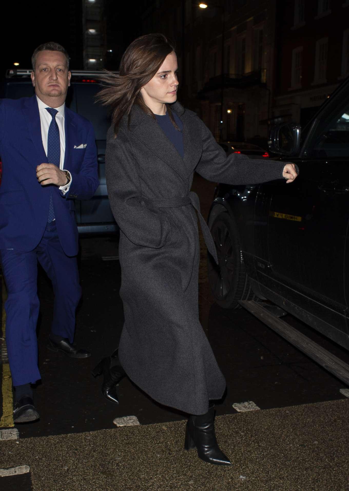 Emma Watson 2020 : Emma Watson – Leaving C restaurant in London-23