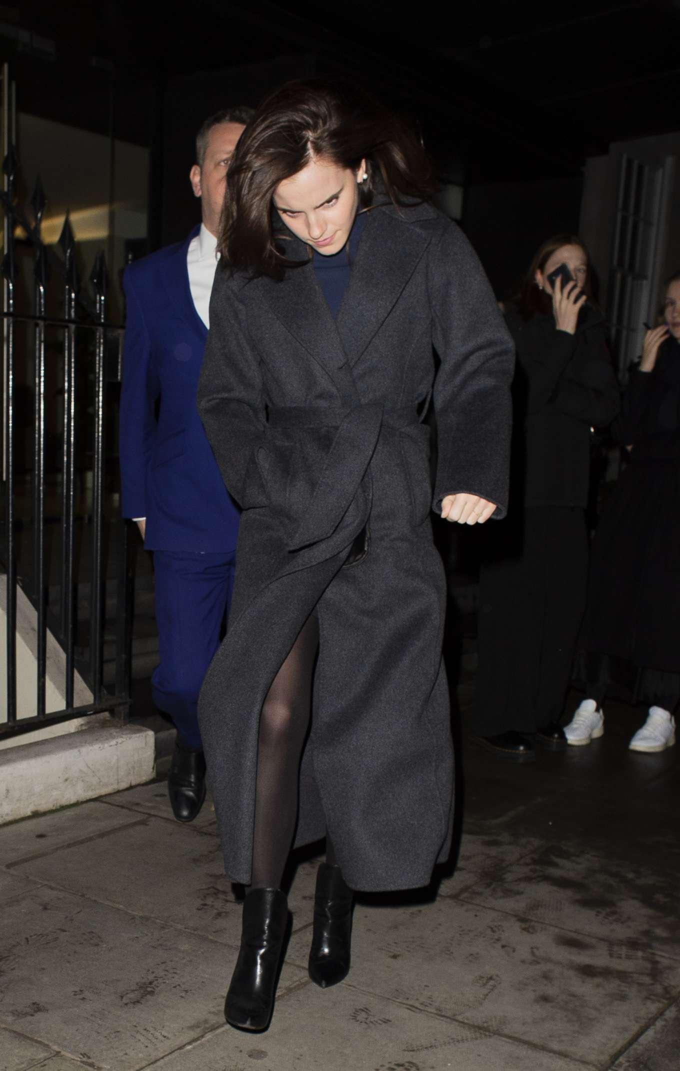 Emma Watson 2020 : Emma Watson – Leaving C restaurant in London-24