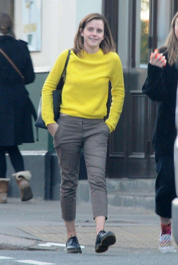 Emma Watson: Leaving Lemonia Greek Restaurant -01