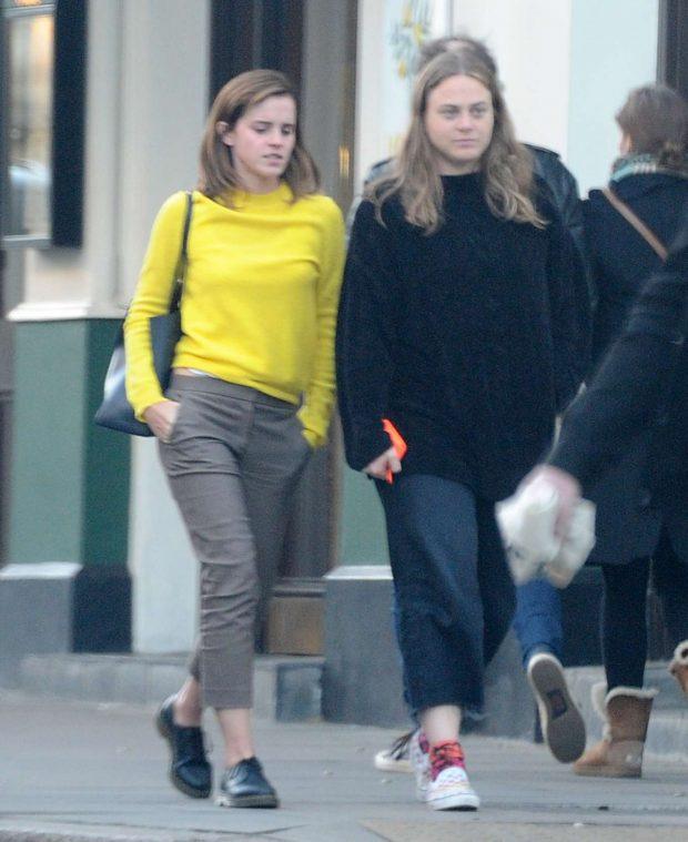 Emma Watson: Leaving Lemonia Greek Restaurant -06