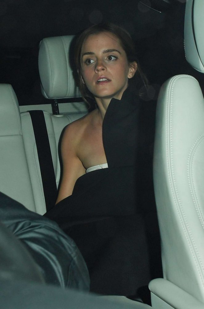 Emma Watson - Leaving the ELLE Style Awards in London