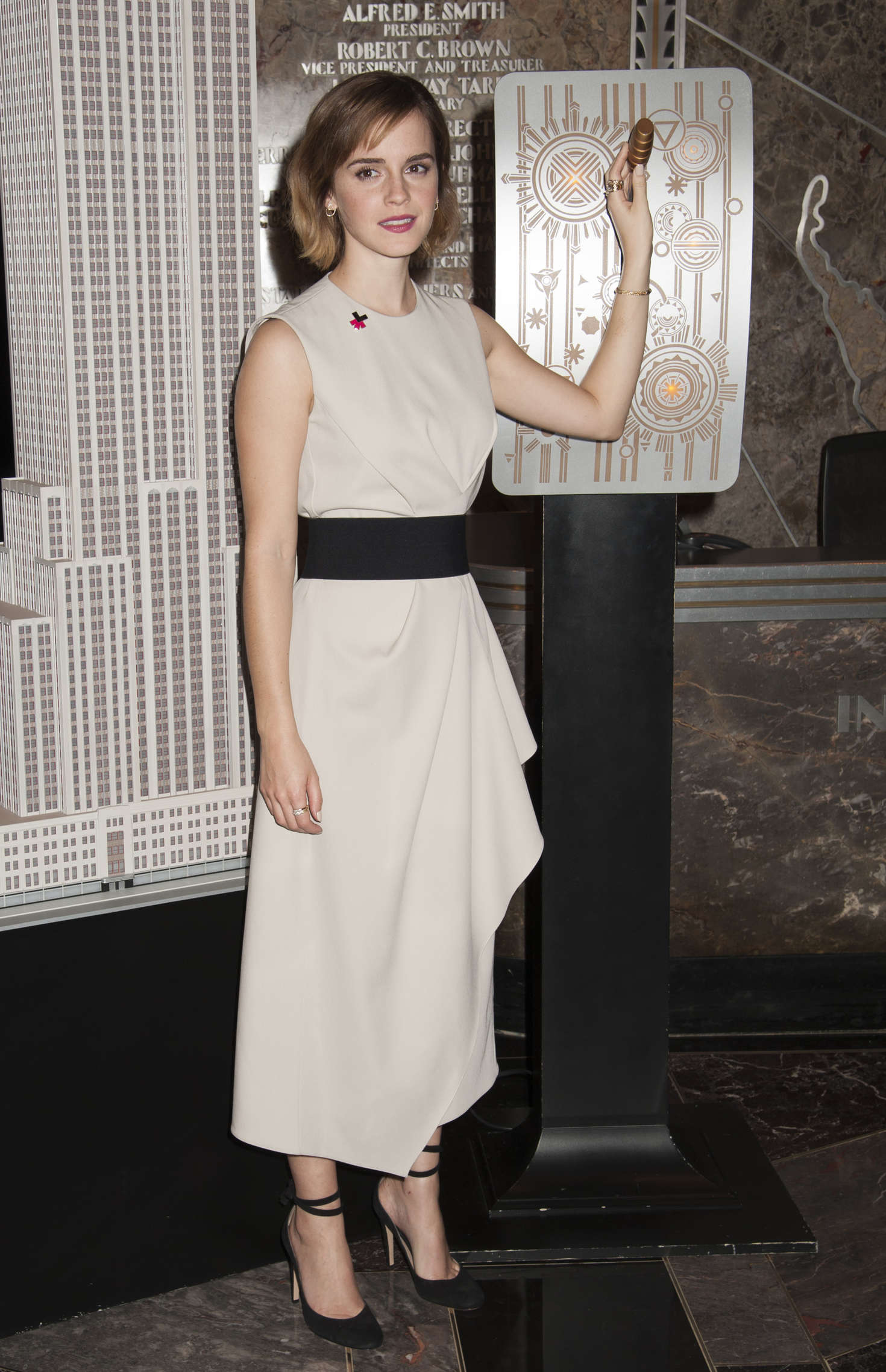 Emma Watson - Lights The Empire State Building for International Women's Day in NYC