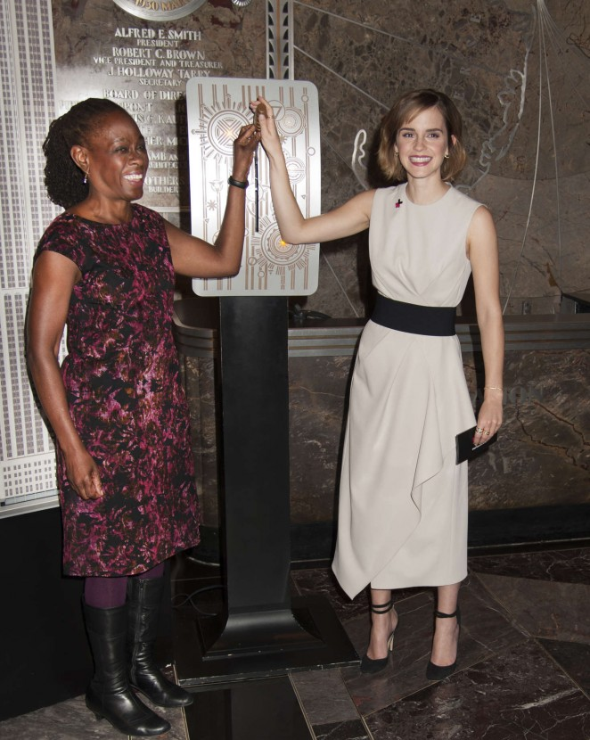 Emma Watson: Lights The Empire State Building for International Womens Day -07