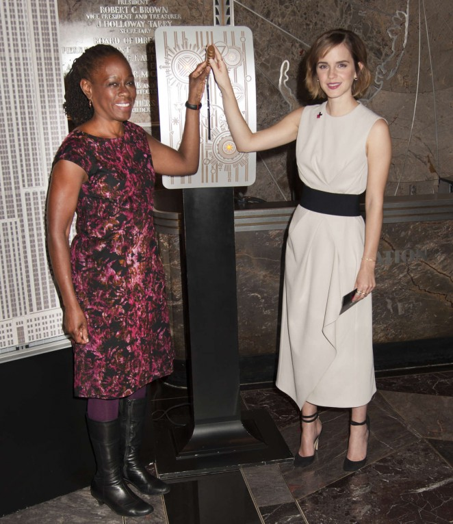 Emma Watson: Lights The Empire State Building for International Womens Day -12