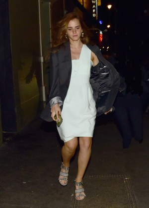 Emma Watson in Mini Dress Out in London
