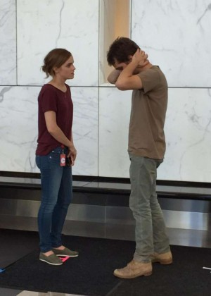 Emma Watson in Jeans on 'The Circle' Set in LA
