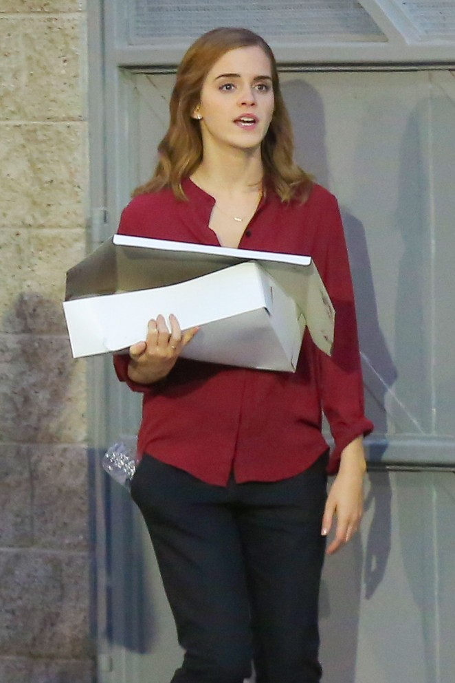 Emma Watson on the set of 'The Circle' in LA