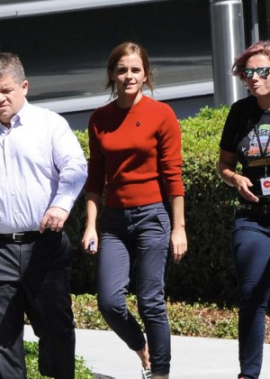 Emma Watson in Tight Pants on The Circle set -09