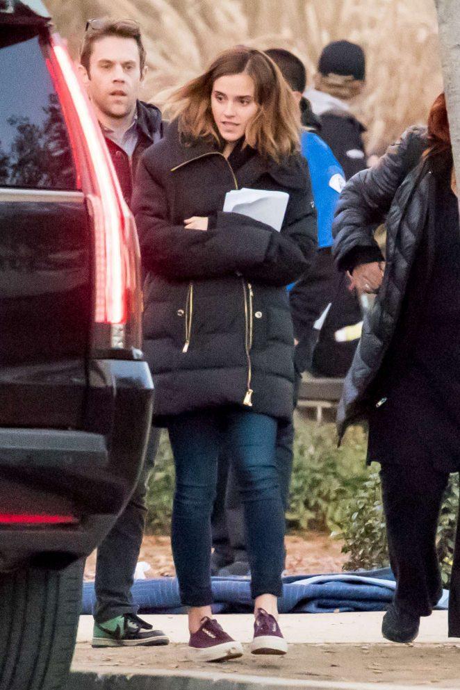 Emma Watson on the set of The Circle -14