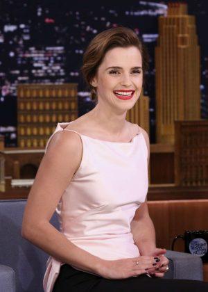 Emma Watson on 'The Tonight Show Starring Jimmy Fallon' in NY