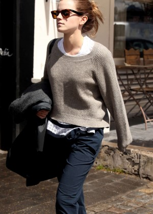 Emma Watson in Jeans Out in London