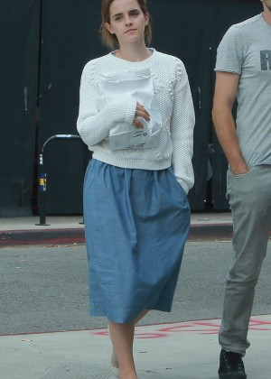EEmma Watson in Blue Skirt out in Los Feliz