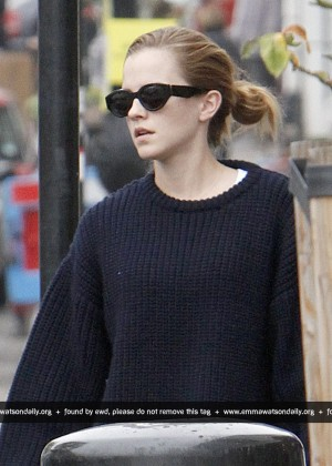 Emma Watson in Tights out in London