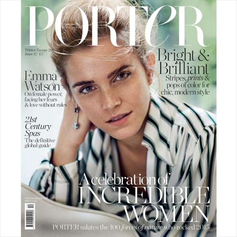 emma watson porter magazine cover winter 2015