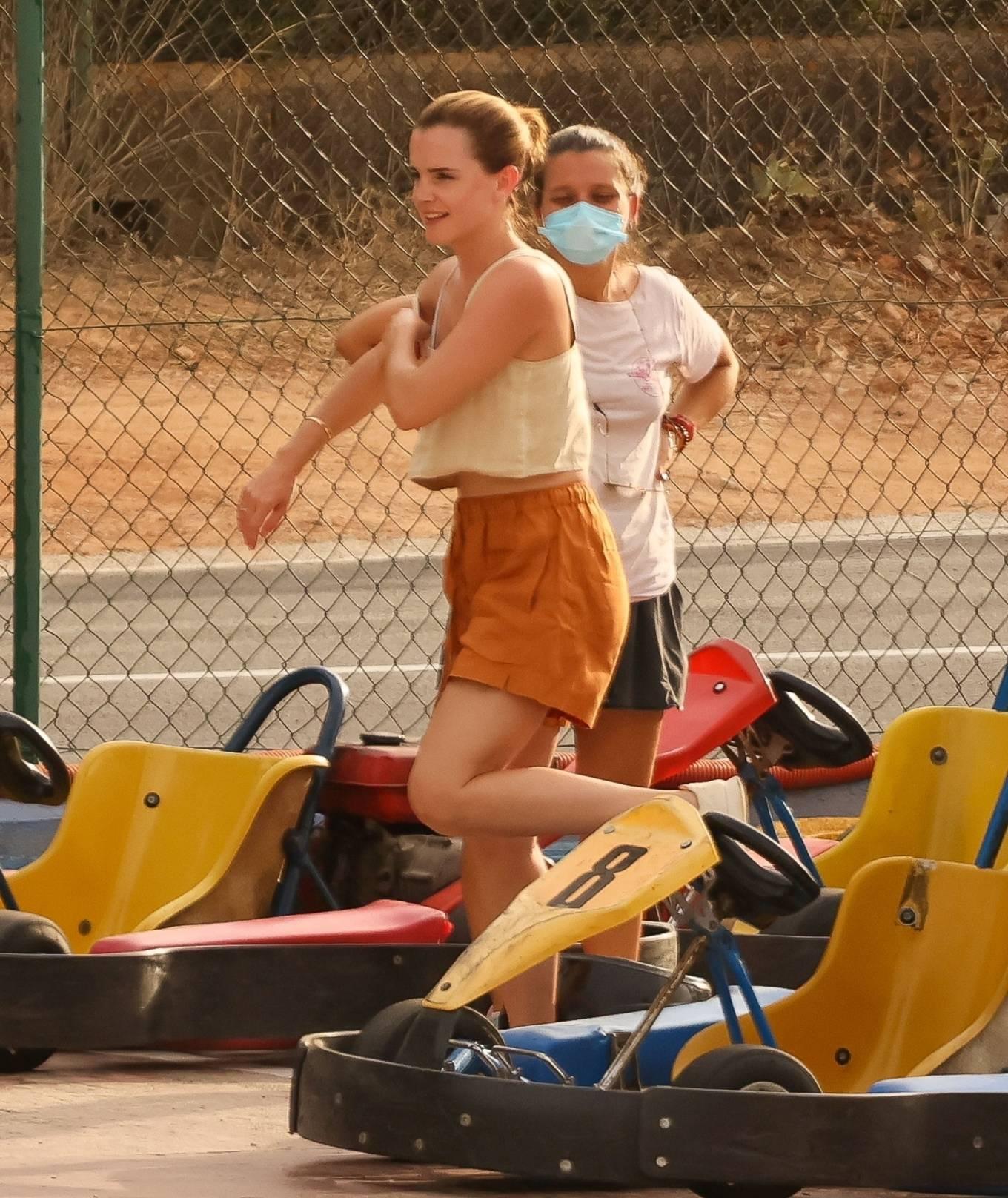 Emma Watson - Riding Go Karting in Ibiza