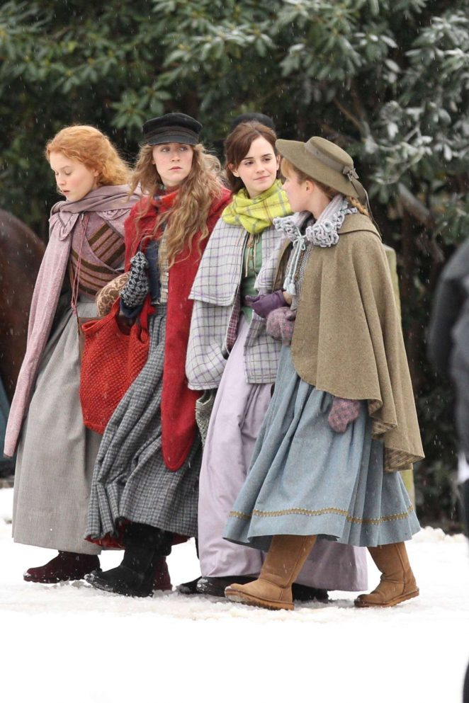 Emma Watson, Saoirse Ronan, Florence Pugh and Eliza Scanlen – Filming 'Little Women' Set in Cambridge