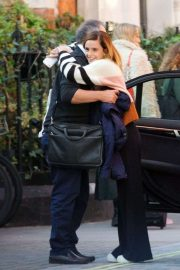 Emma Watson - Shares a sweet hug goodbye with her dad Chris in London