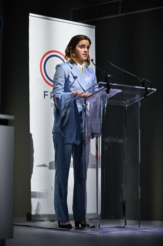 Emma Watson - Speaks during a conference about gender equality in Paris