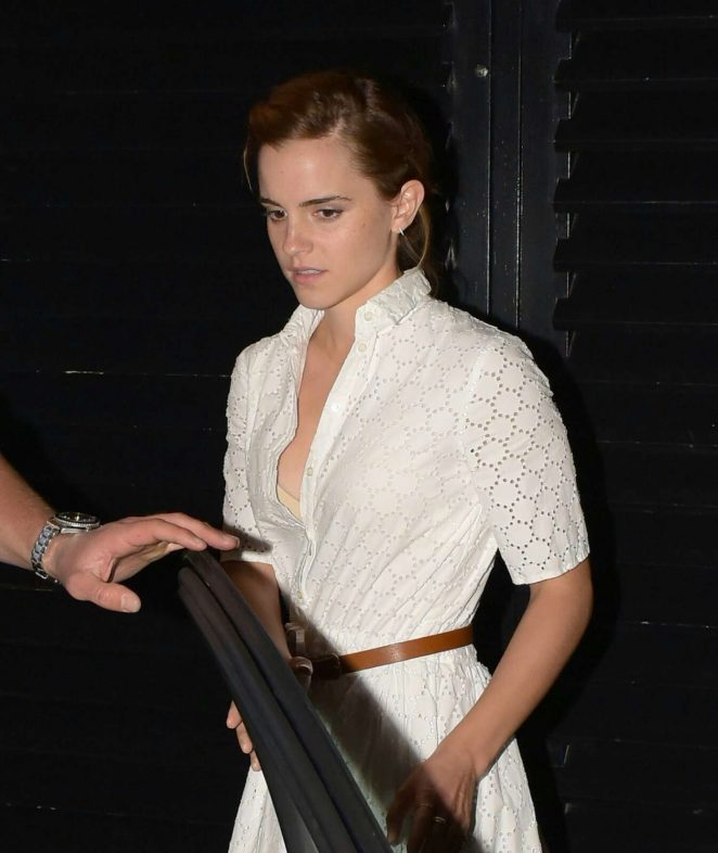 Emma Watson - Spotted While Leaving the Chiltern Firehouse in London