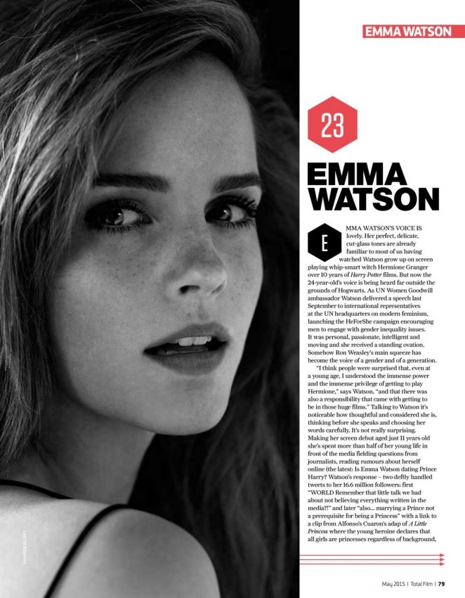 Emma Watson - Total Film Magazine (May 2015)
