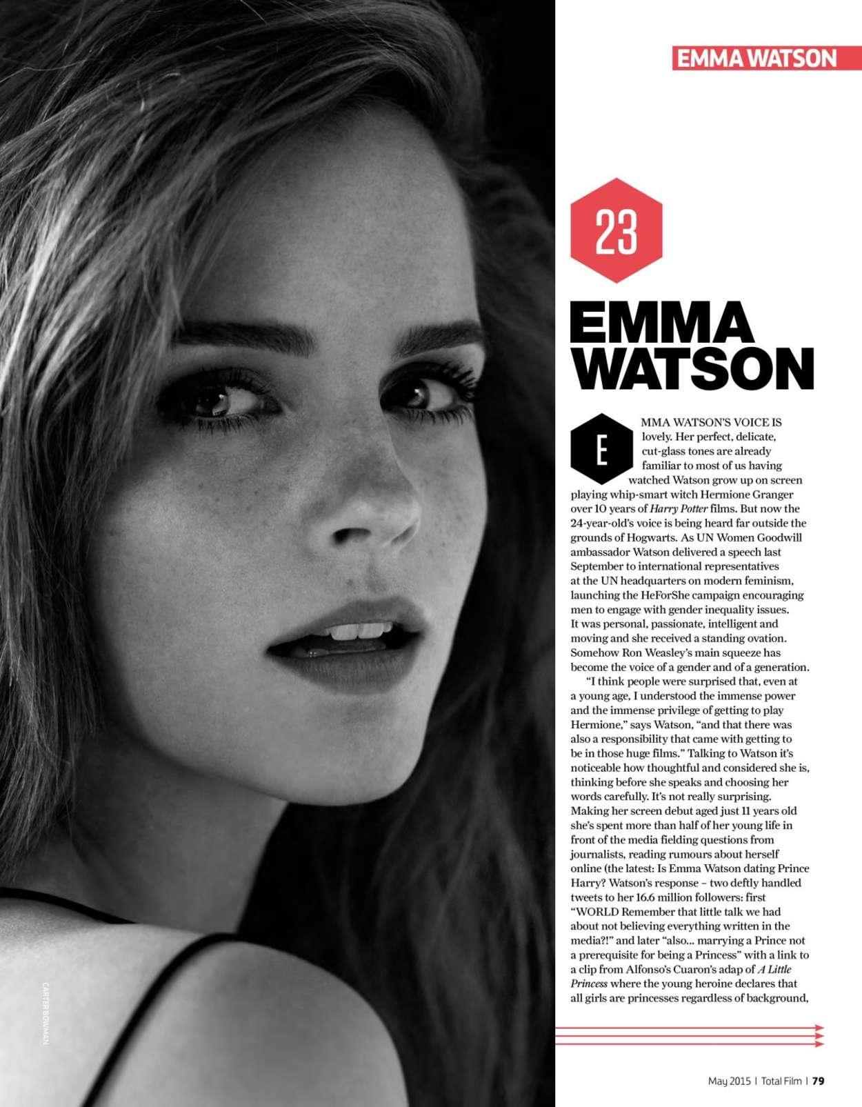 Emma Watson - Total Film Magazine (May 2015)