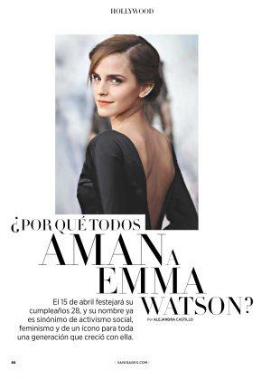 Emma Watson - Vanidades Mexico Magazine (April 2018)